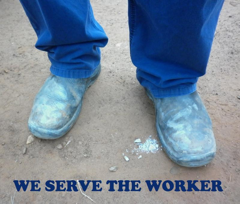 We are there to serve the worker, who struggles on in order to provide.